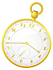 Vector clipart: gold pocket watch