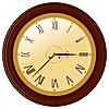 runde Uhr mit römischen Ziffern