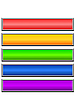 Vector clipart: Set of color long buttons 7