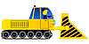 Vector clipart: Bulldozer and the driver
