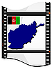 Vector clipart: image footage with map of Afghanistan