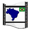 Vector clipart: image footage with map of Brazil