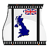 Vector clipart: image footage with map of Britain