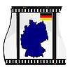 Vector clipart: image footage with map of Germany