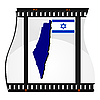 Vector clipart: image footage with map of Israel