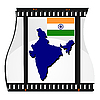 Vector clipart: image footage with map of India