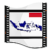 Vector clipart: image footage with map of Indonesia