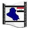 Vector clipart: image footage with map of Iraq
