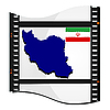 Vector clipart: photo frame with map of Iran
