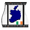 Vector clipart: image footage with map of Ireland