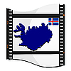 Image footage with map of Iceland | 向量插图