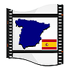 Vector clipart: image footage with map of Spain