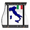 Vector clipart: image footage with map of Italy