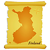 Vector clipart: parchment with silhouette of Finland