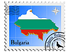 Vector clipart: stamp with the image maps of Bulgaria