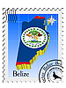 Stamp with the image maps of Belize | Stock Vector Graphics