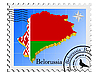 Vector clipart: stamp with the image maps of Belorussia
