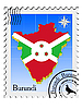 Vector clipart: stamp with the image maps of Burundi