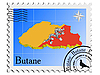 Vector clipart: stamp with the image maps of Butane
