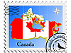 Vector clipart: stamp with the image maps of Canada