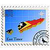 Vector clipart: stamp with the image maps of East Timor