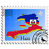Vector clipart: stamp with the image maps of Haiti