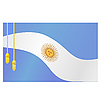 Vector clipart: the flag of Argentina and