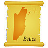 Vector clipart: parchment with silhouette of Belize