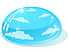 Vector clipart: drop of water reflects the sky