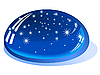 Vector clipart: drop of water reflects the night sky