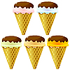 Vector clipart: Collection of s of ice cream