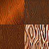 Vector clipart: Set of s of wooden texture