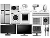 Vector clipart: Big collection of images of household appliances