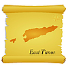 Vector clipart: parchment with silhouette of East Timor