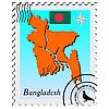 Векторный клипарт: печать с изображением карты Бангладеш