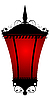 Vector clipart: Red lantern