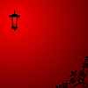 Vector clipart: Background with red lantern