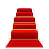 Vector clipart: Staircase with red carpet
