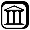 Векторный клипарт: Графический знак греческий храм