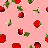 Векторный клипарт: бесшовных текстур с вишни, малины и клубники