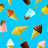 Vector clipart: seamless texture with ice cream