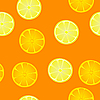 Vector clipart: seamless texture of oranges and lemons