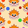 Vector clipart: seamless texture with clown`s face