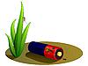 Batería, situada en la groun | Ilustración vectorial
