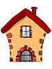Vector clipart: stone house