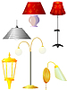 Vector clipart: Collection of s of lamps