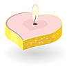 Vector clipart: candles in the shape of heart