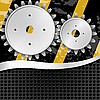 Vector clipart: of abstract metal background with gears