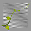 Vector clipart: green shoots and metal mesh