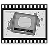 Vector clipart: old frame with old TV